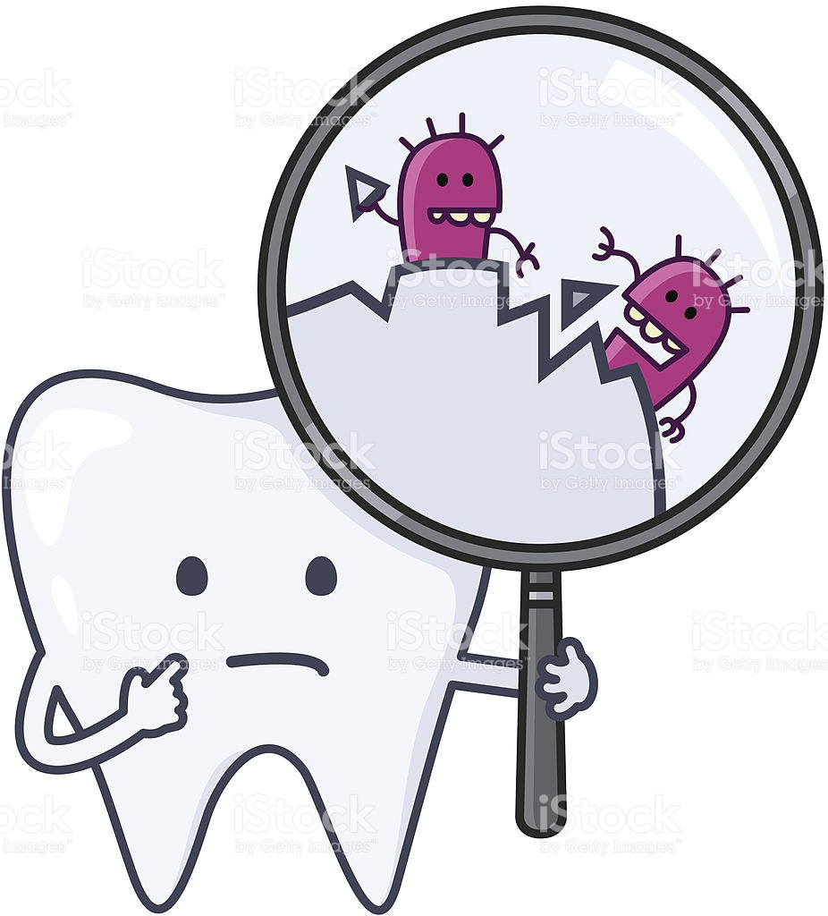 Ouch Tooth With Cavities stock vector art 165734077.