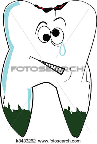 Clipart of tooth with cavity k8433262.
