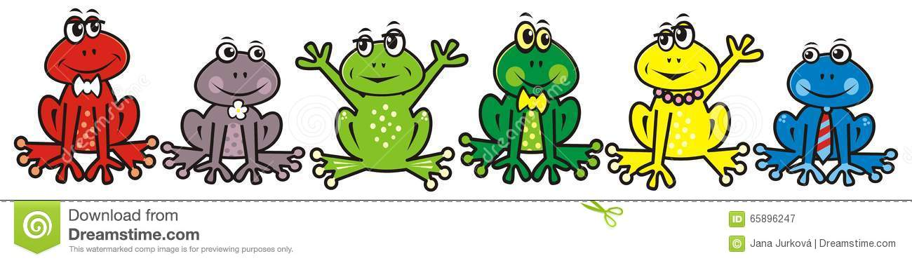 Group Of Frogs Clipart.