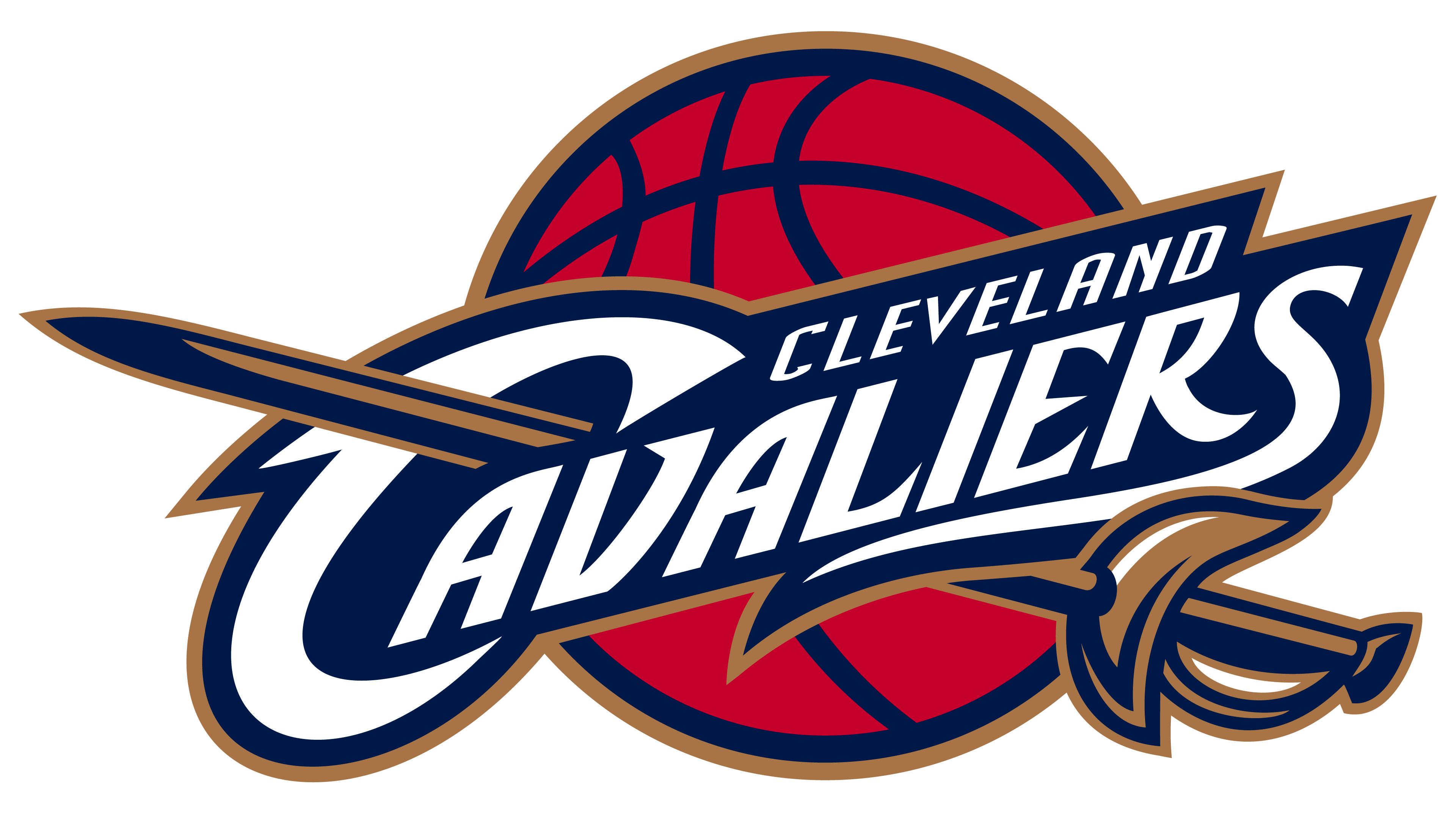 Cleveland Cavaliers logos.