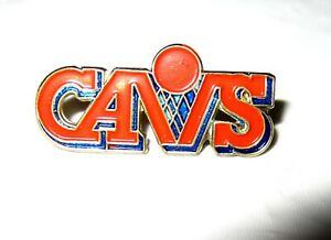 Details about Vintage 1980s CAVS Lapel Pin Cleveland Cavaliers Old Logo  Basketball Orange Blue.