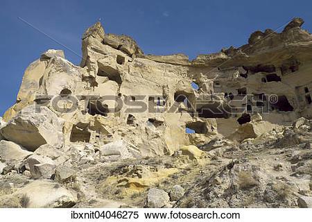 "Stock Image of ""Ruins of the Baptist Church, Cavusin, Nevsehir."