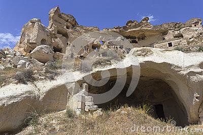Cavusin Old House In Cappadocia, Turkey Stock Photo.