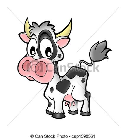 Clipart of Small cow.