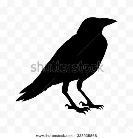 Free useable raven head shilloette clipart.