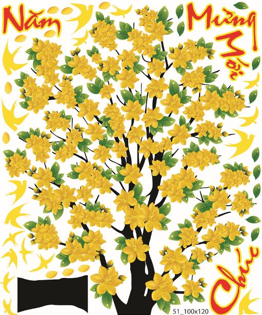 Trang trí tết Cây mai vàng mùa xuân số 1.