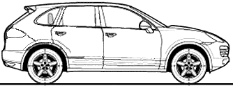 Clip Art Porsche Cayenne.