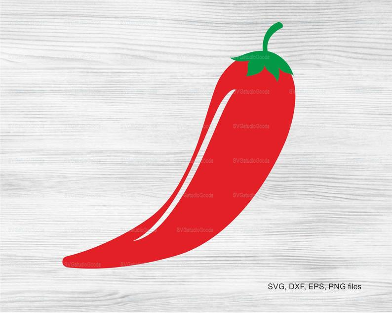 Chili pepper SVG, Chili pepper clipart, Eps, Dxf, Png, Pdf, Chili pepper  cutting file, Printable, Svg Files, Instant Download.