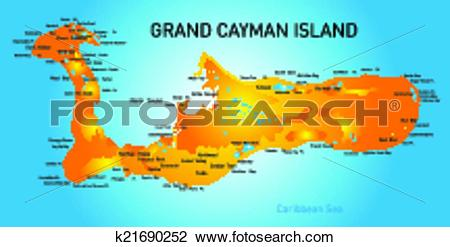 Clipart of Grand Cayman k21690252.
