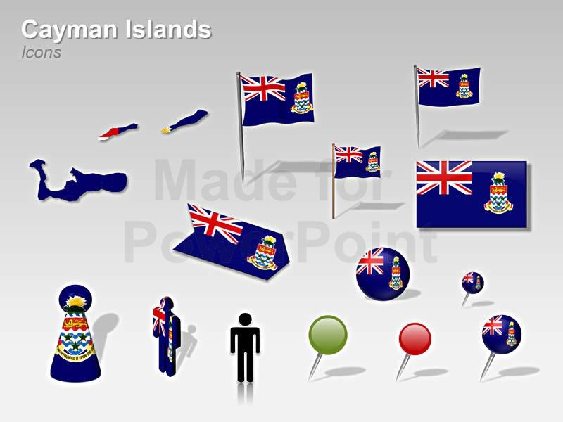 Cayman Islands Map.