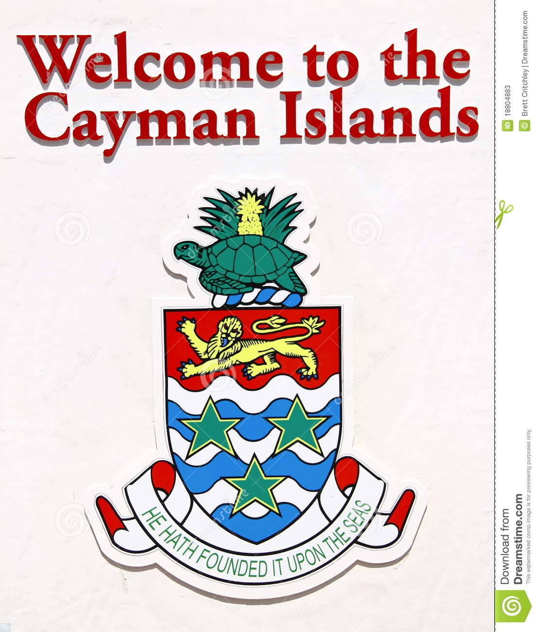Cayman Islands Welcome Sign Stock Photos.