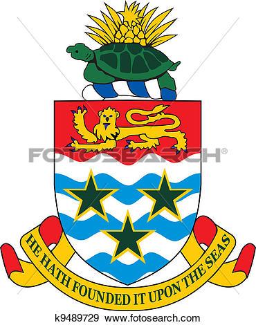 Clip Art of Cayman islands coa k9489729.