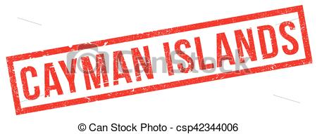 Vector Clipart of Cayman Islands rubber stamp. Grunge design with.