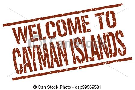 Vector of welcome to Cayman Islands stamp csp39569581.