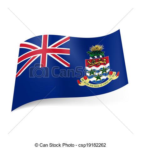 Clip Art Vector of Flag of Cayman Islands.
