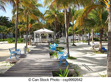 Stock Photo of Wedding veranda in hotel Melia Cayo Guillermo. Cuba.