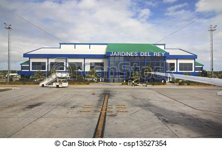 Stock Images of International airport Jardines Del Rey of Cayo.