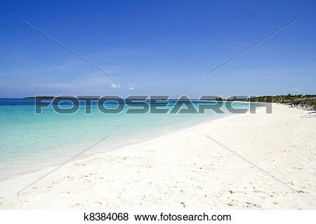 Pictures of Beach of Cayo Santa Maria. Cuba k8384068.