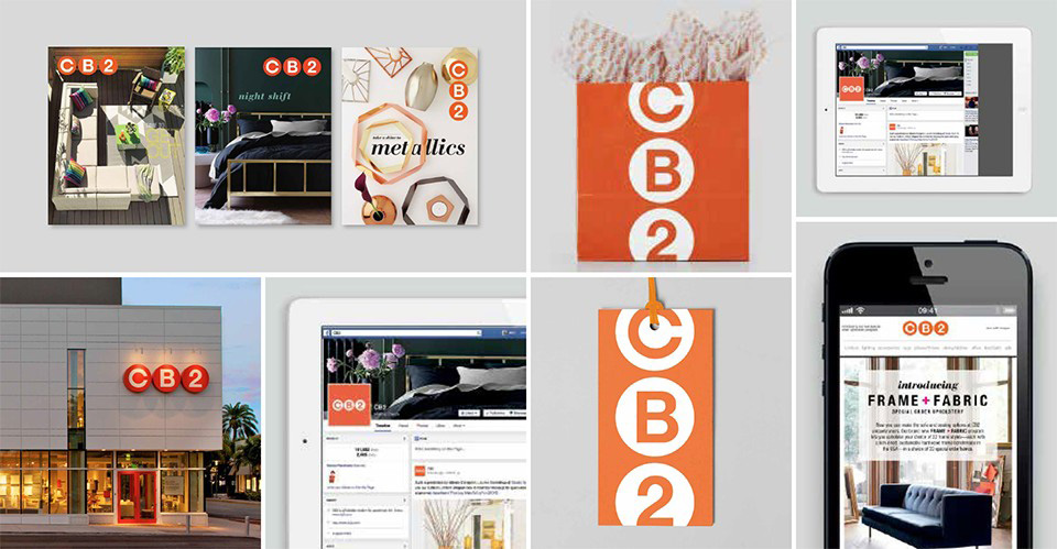 Brand New: New Logo and Identity for CB2 by Mother.