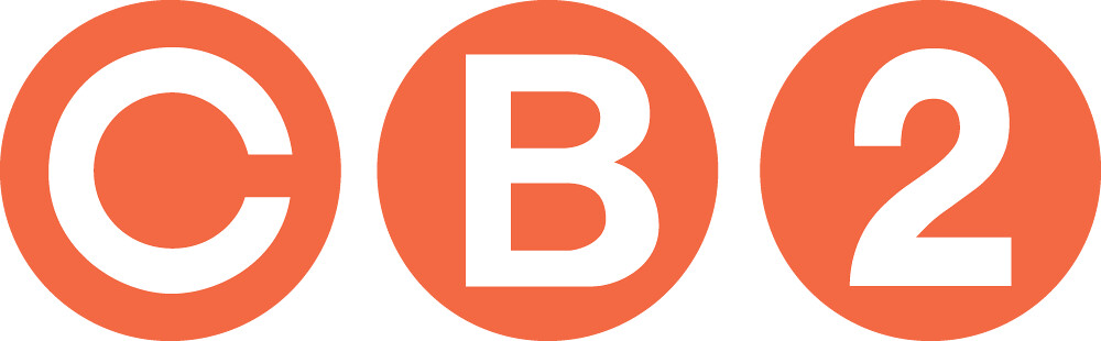 cb2 logo orange and white.