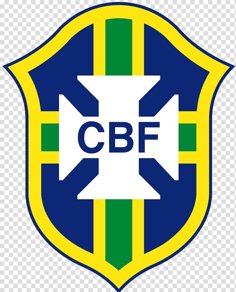 Blue and green CBF logo, Dream League Soccer Brazil national.