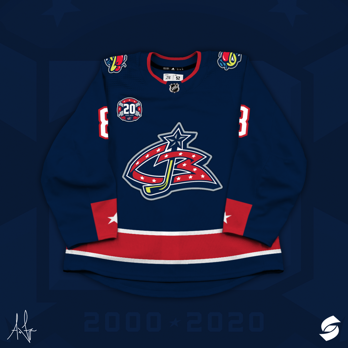 Columbus Blue Jackets 20th Anniversary Concept on Behance.