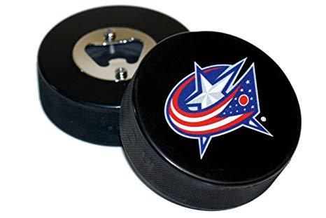 EBINGERS PLACE Columbus Blue Jackets Basic Logo Hockey NHL Puck Bottle  Opener.