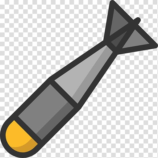 Gray and yellow torpido illustration, Missile Nuclear weapon.