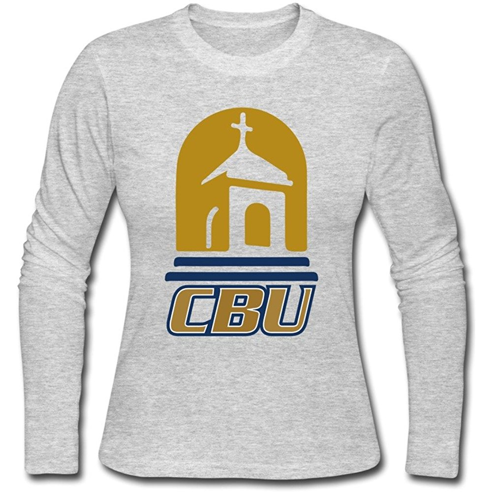100 Cotton Cal Baptist Lancers CBU Logo T shirts For Woman.