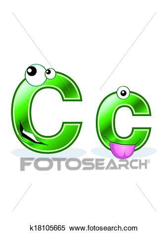 Cartoon letter Cc Clipart.