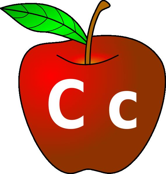 Apple With C C Clip Art at Clker.com.
