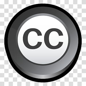 D Cartoon Icons III, Creative Commons, CC logo transparent.