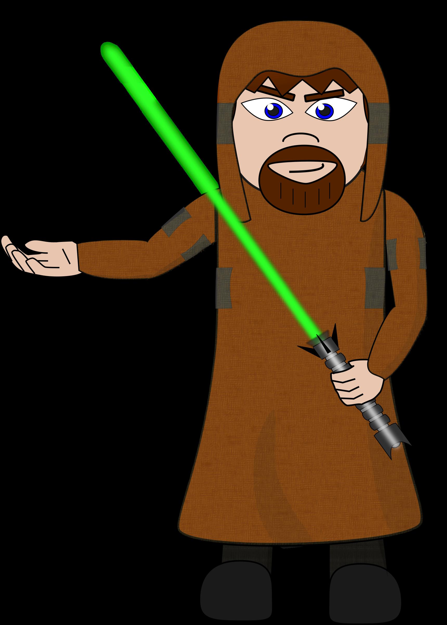 Jedi Knight Vector Clipart.