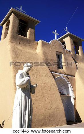 Stock Image of USA New Mexico Ranchos de Taos Church of Saint.