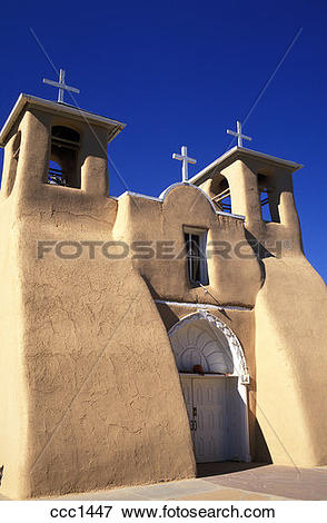 Picture of USA New Mexico Ranchos de Taos Church of Saint Francis.