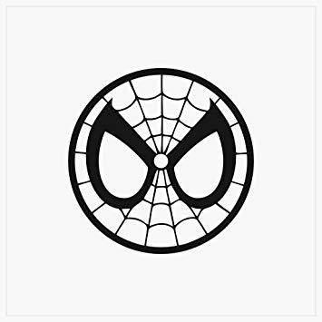 CCI Spider Man Mask Spiderman Face Decal Vinyl Sticker.