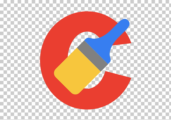 Circle logo line, Other CCleaner, red, blue, and brown paint.