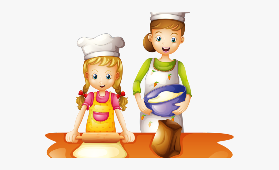 Kids Cooking Clipart.