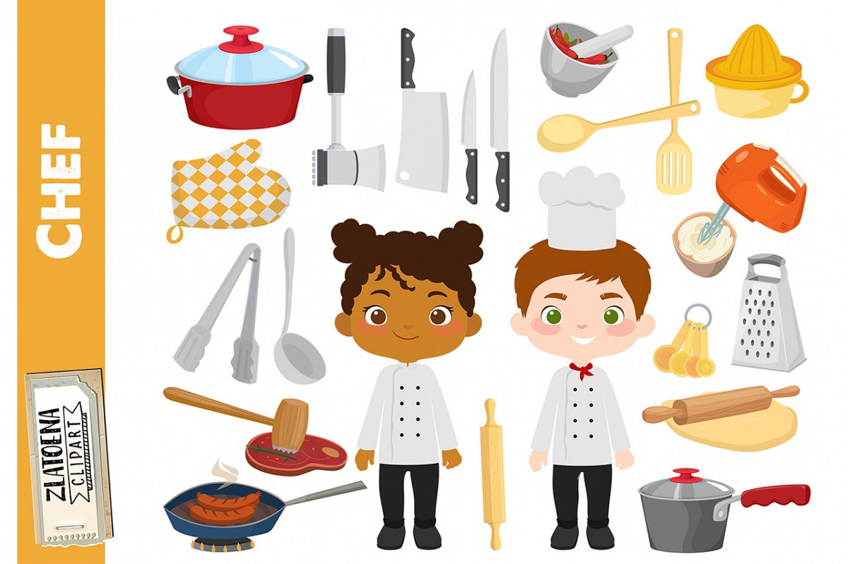 Chef Clipart Cooking Party clip art Cook Clipart Utensils.