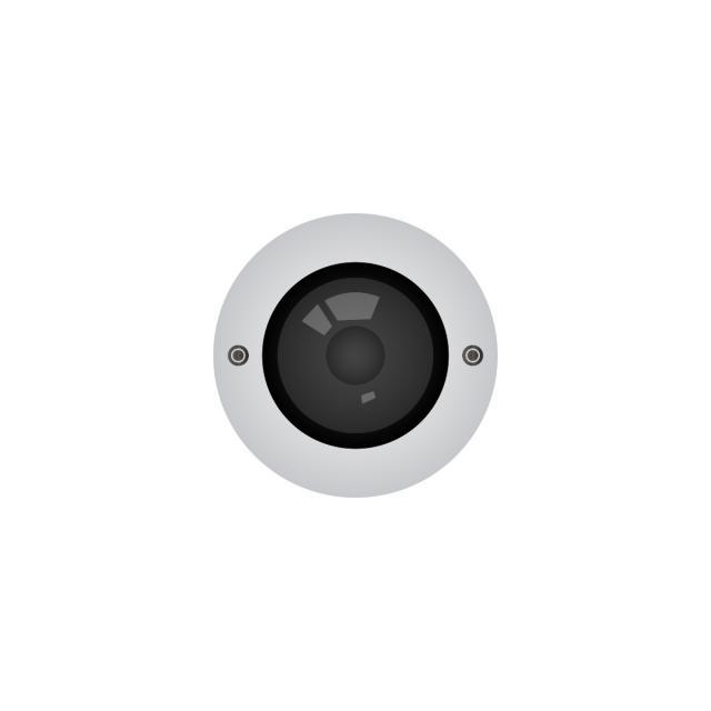 Lens of cctv camera video surveillance vector, Aiming, Background.