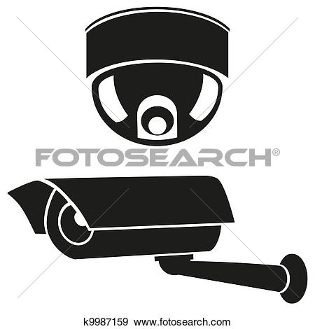 Clip Art of CCTV symbol, video surveillance k8893778.