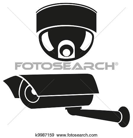 Clip Art of CCTV symbol, video surveillance k8893778.