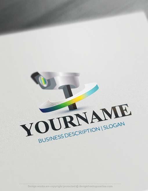 Free Logo Maker cctv camera Logo Design.