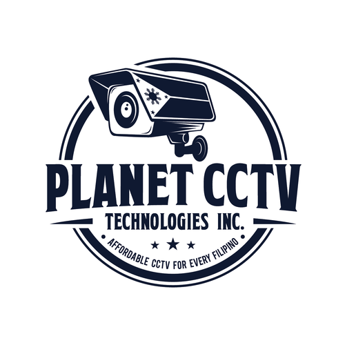 Eye catching logo for CCTV Surveillnace provider and network cabling.