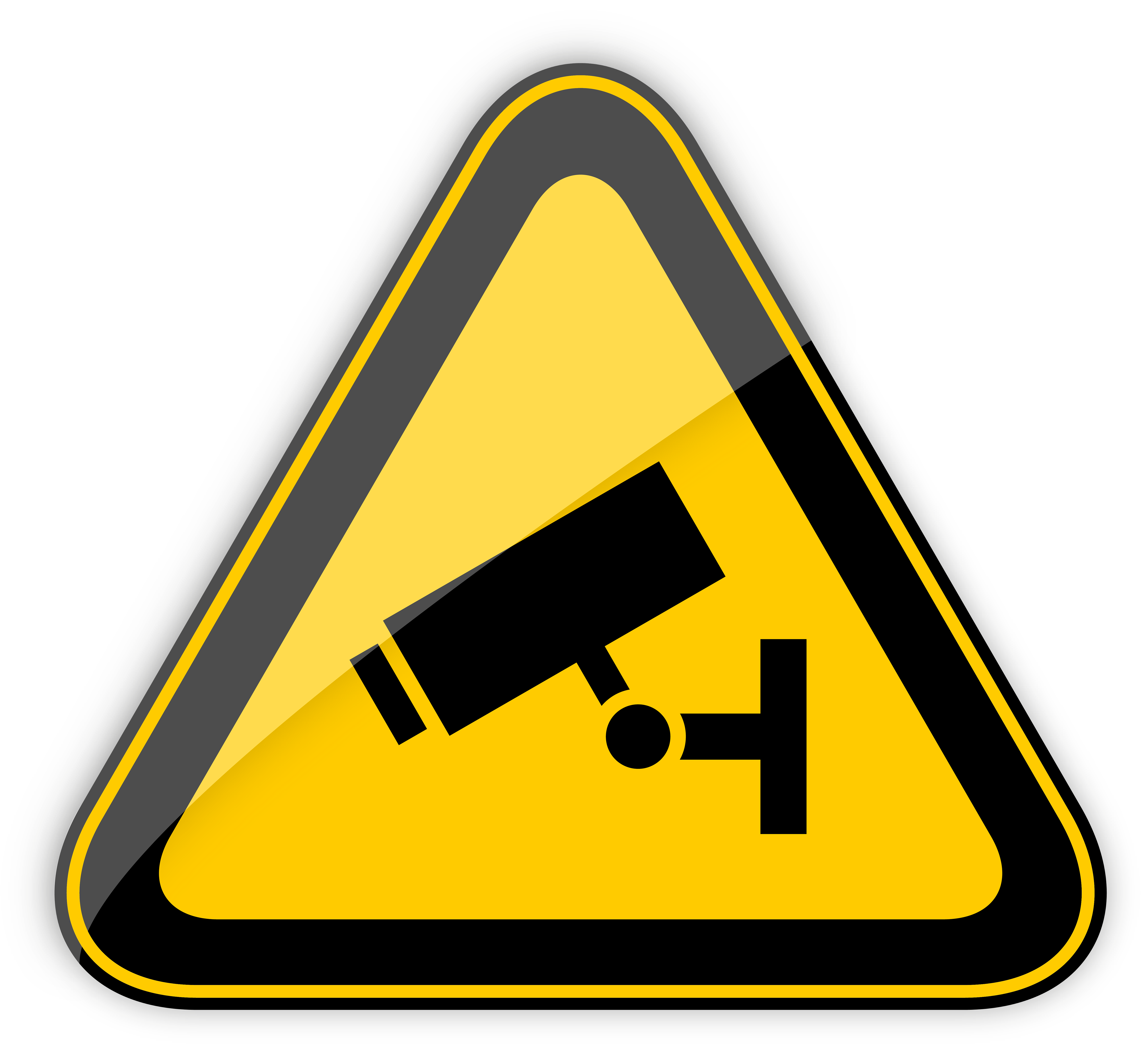 CCTV in Operation Warning Sign PNG Clipart.