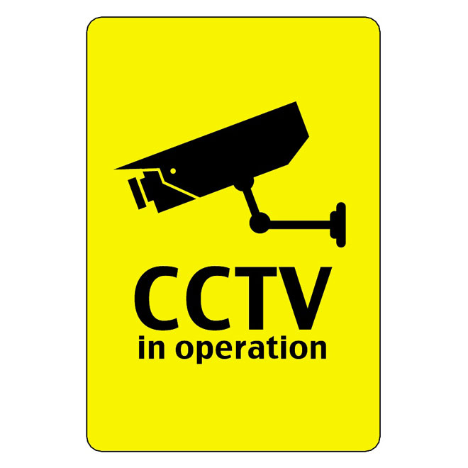 CCTV IN OPERATION VECTOR SIGN.