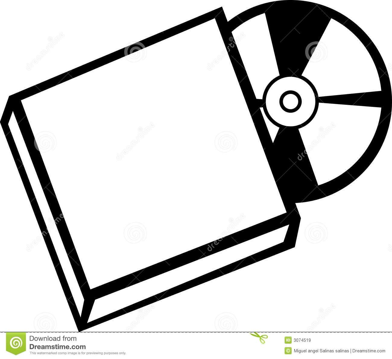 Cd case clipart.