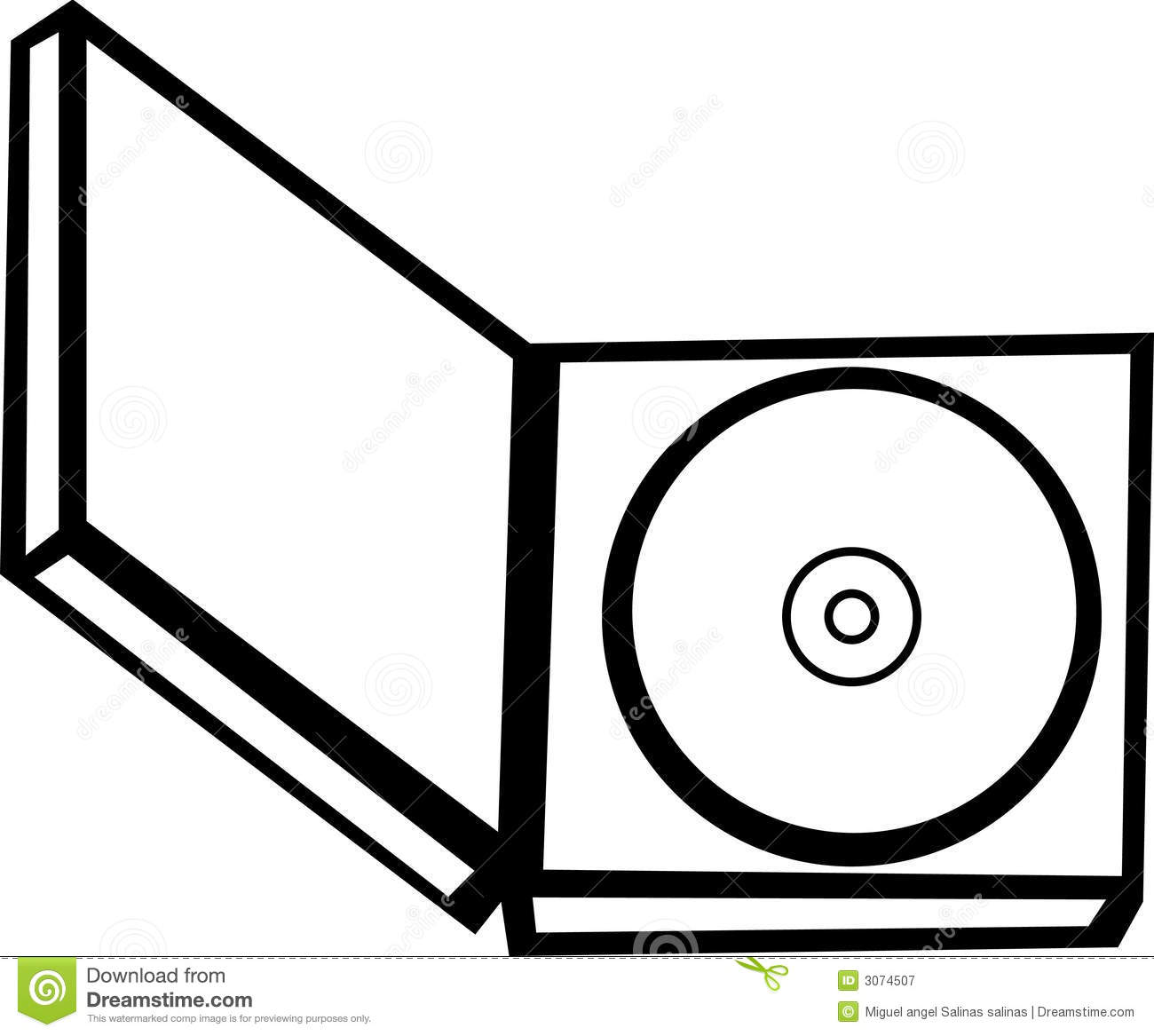 Cd In An Open Case Vector Illustration Royalty Free Stock.
