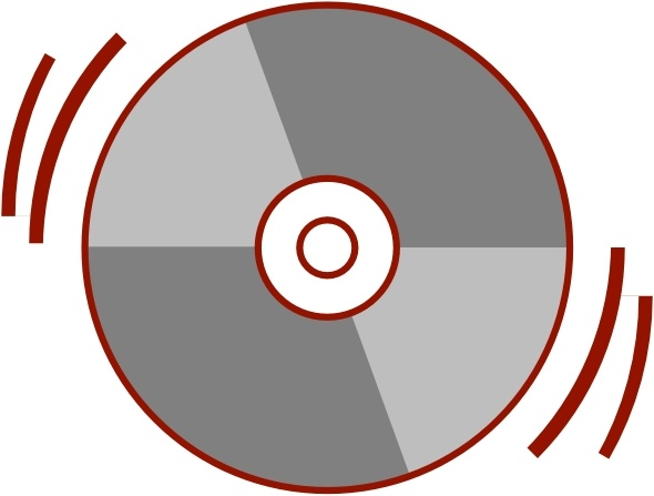 Stylized Cd clip art Free vector in Open office drawing svg ( .svg.