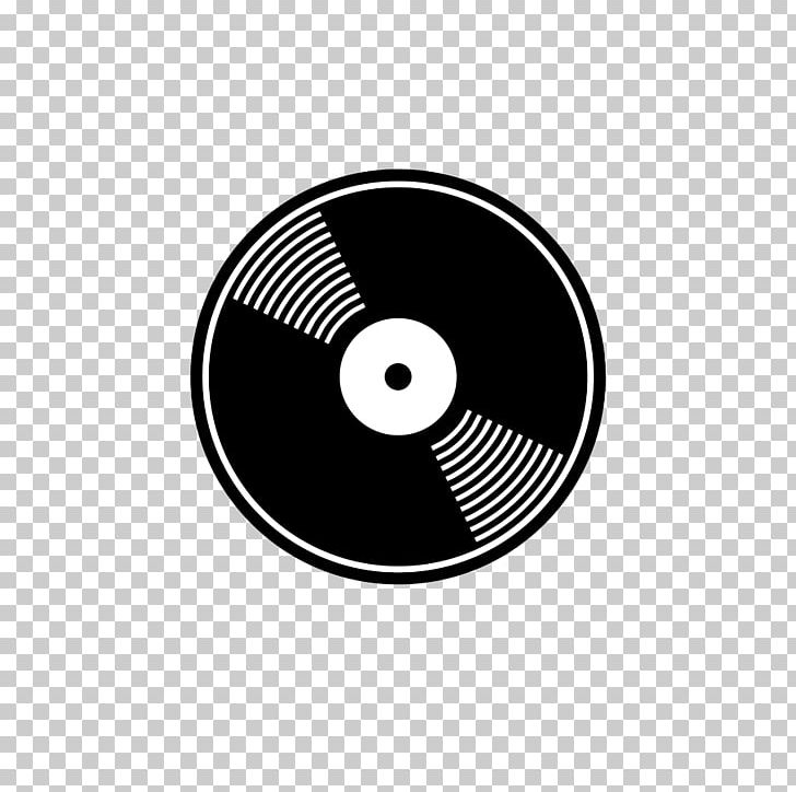 Compact Disc Black And White Optical Disc PNG, Clipart.